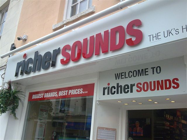 Scorpion Group Security provide service for Richer Sounds. Here - IR550 Camera (Top left) Fitted at Richer Sounds Cheltenham